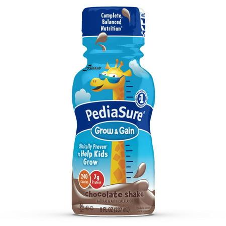 PediaSure Grow & Gain Nutrition Shake For Kids, Chocolate, 8 fl oz (4, 6-count, Packs)
