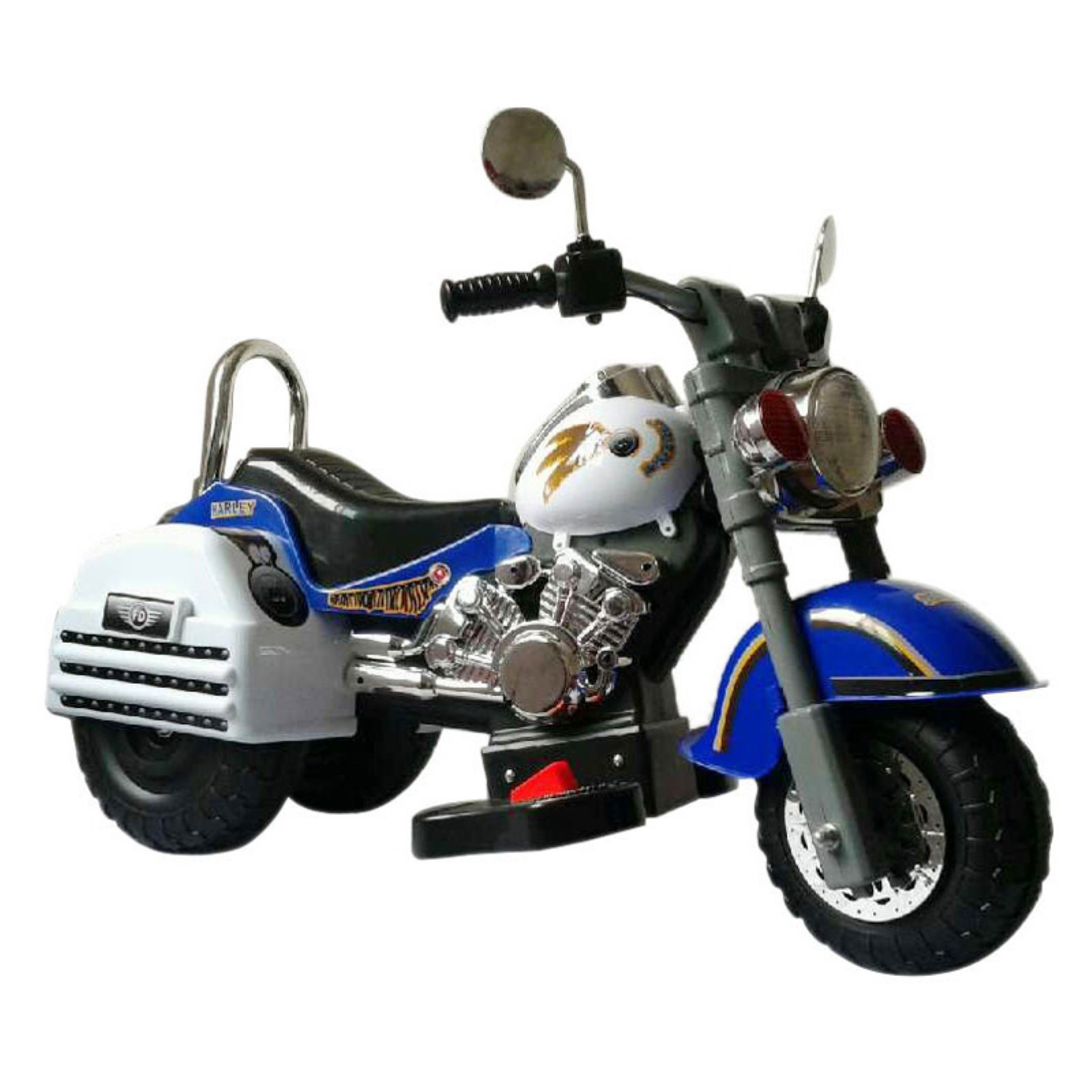 Merske Harley Style Motorcycle Battery Powered Riding Toy Blue by Overstock