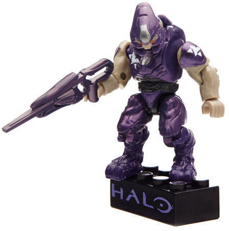 Halo Metallic Elite Drop Pod Set Mega Bloks 97356 [Purple Elite] by Mega