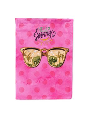 Beach Sunglasses Pink Polkadot Garden Flag