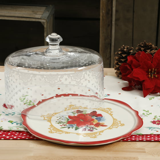 The Pioneer Woman Winter Bouquet 10 4 Inch Cake Plate With