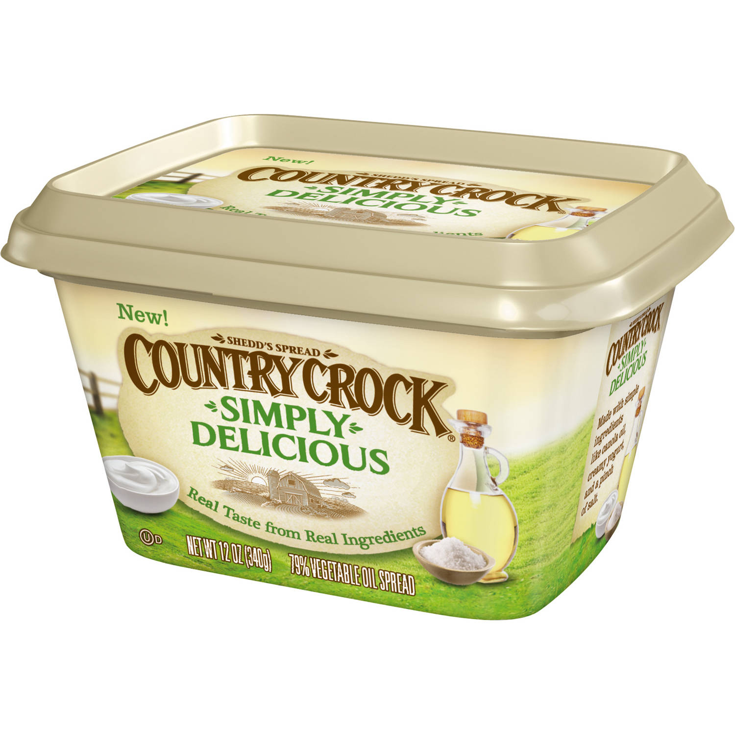 Country Crock Simply Delicious, 79% Vegetable Oil Spread, 12 Oz.