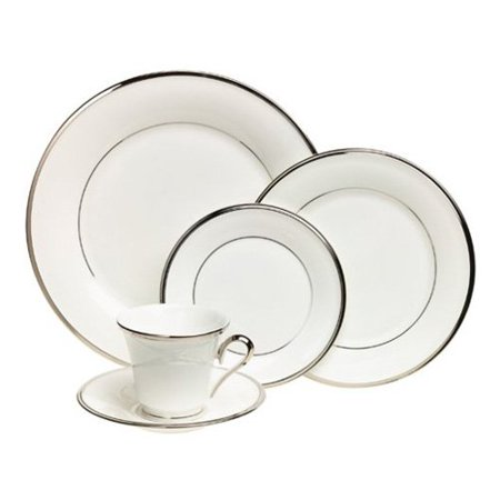 - * Clearance * Lenox Solitaire White 5-piece Dinnerware Place Setting