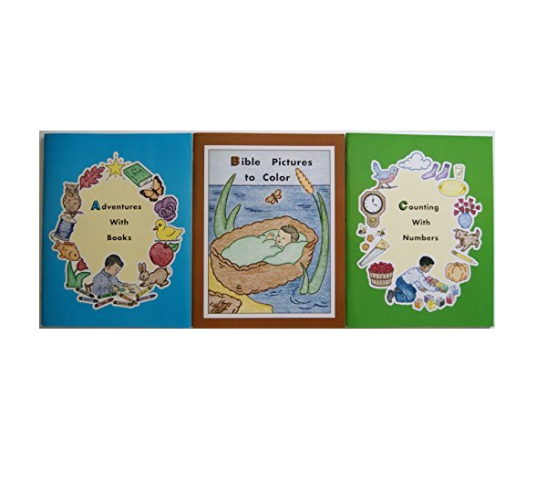 Early Learning Homeschool Preschool Curriculum: ABC Series of 3 Workbooks by