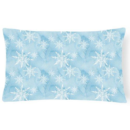 Zoomie Kids Benji Watercolor Snowflake Indoor/Outdoor Throw Pillow