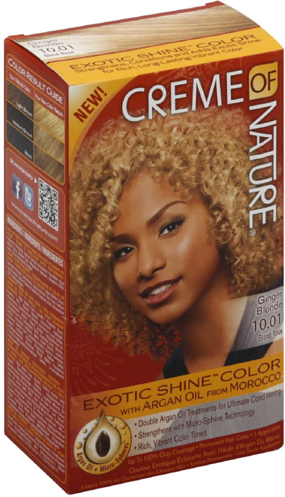 Revlon Creme Of Nature Permanent Hair Color 1 Ea Walmart