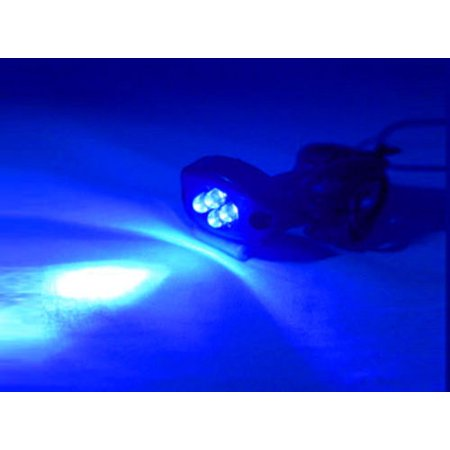 BLUE 4 LED MOTORCYCLE/CAR/BOAT/HOME POD LIGHT BRIGHT KIT GLOW and Street 12V Street Glow Led Pod