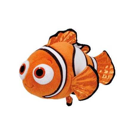 Ty Beanie Babies Finding Dory Nemo Fish Medium Plush - Plush Fish