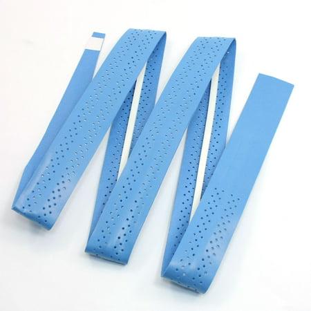 Unique Bargains Nonslip Absorbing Sweat Soft Grip Tape Blue for Badminton Tennis Racket Handle