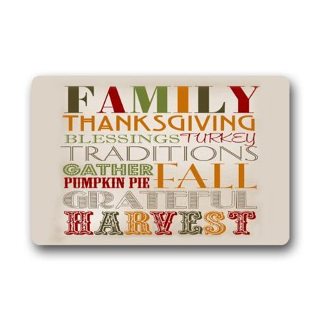 WinHome Funny Thanksgiving Saying Doormat Floor Mats Rugs Outdoors/Indoor Doormat Size 23.6x15.7 inches