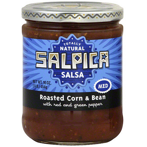 Salpica Roasted Corn & Bean Salsa, 16 oz (Pack of 6)