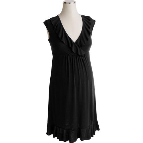Maternity Ruffle-Trim Sleeveless Dress