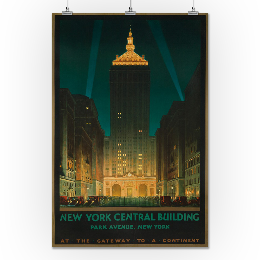 1930s New York Wonder City of the World Vintage Style Travel Poster 24x36