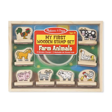 Melissa & Doug My First Wooden Stamp Set - Farm