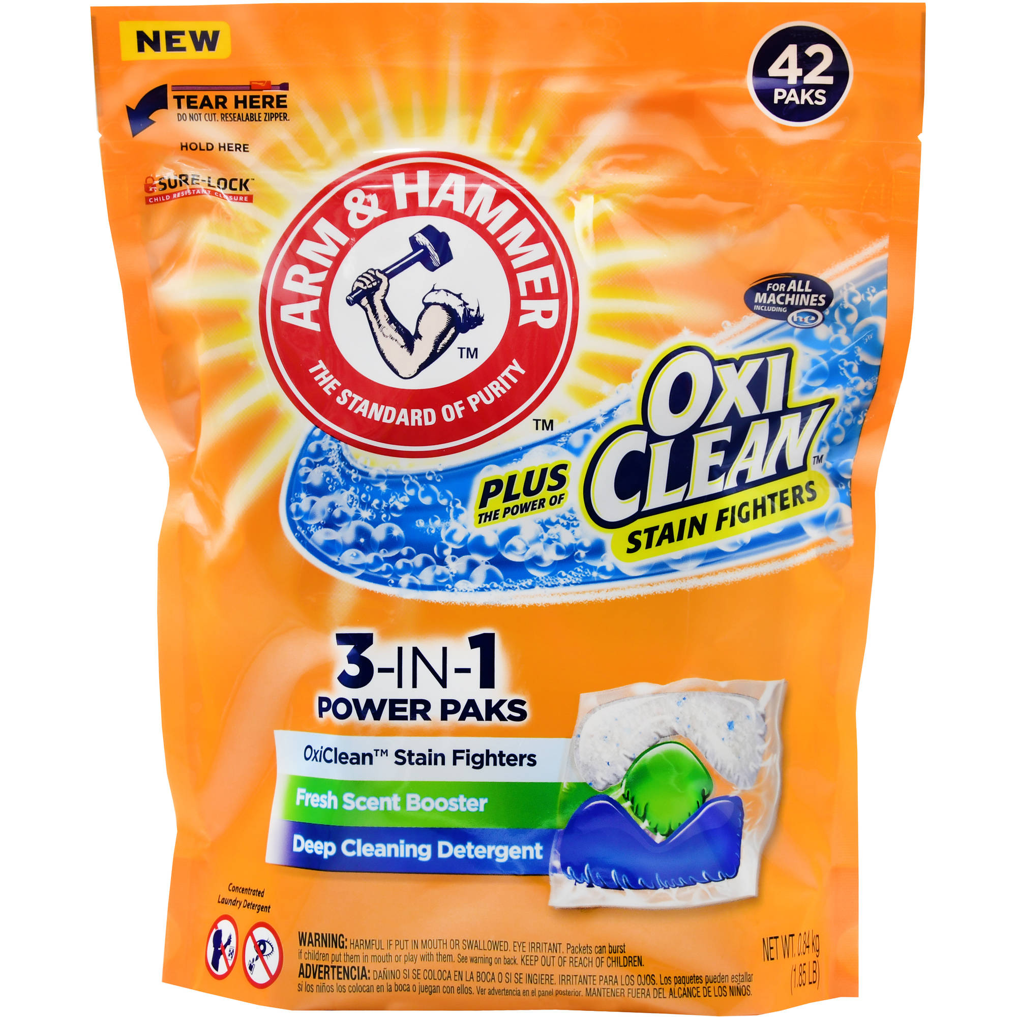 Arm & Hammer Fresh Scent Unit Dose Laundry Detergent - 42 Ct
