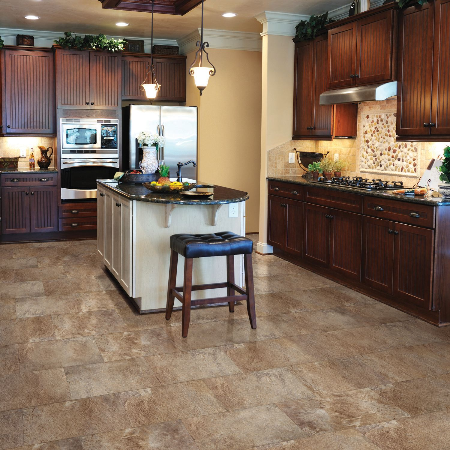 Select Surfaces Click Luxury Vinyl Tile Flooring   Mountain Slate 11.61 Sq.  Ft.   Walmart.com