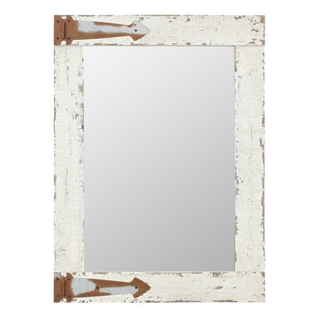 Serenad Farmhouse Wall Mirror White 30