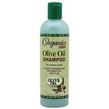 Africas Best Organics Olive Oil Hair Shampoo for All Types of Hair, 12