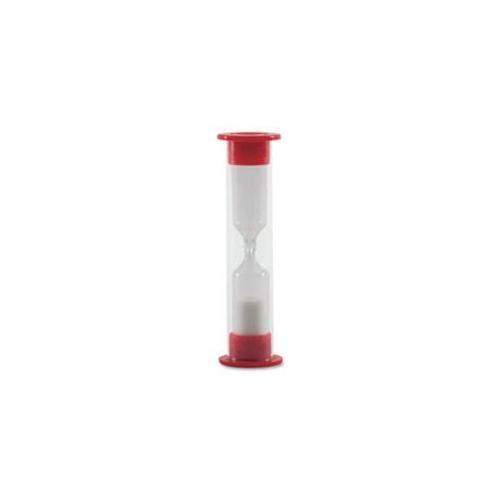 Carson-Dellosa Publishing CDP146027 One-Minute Sand Timer, 3 inch Tall, Red-White
