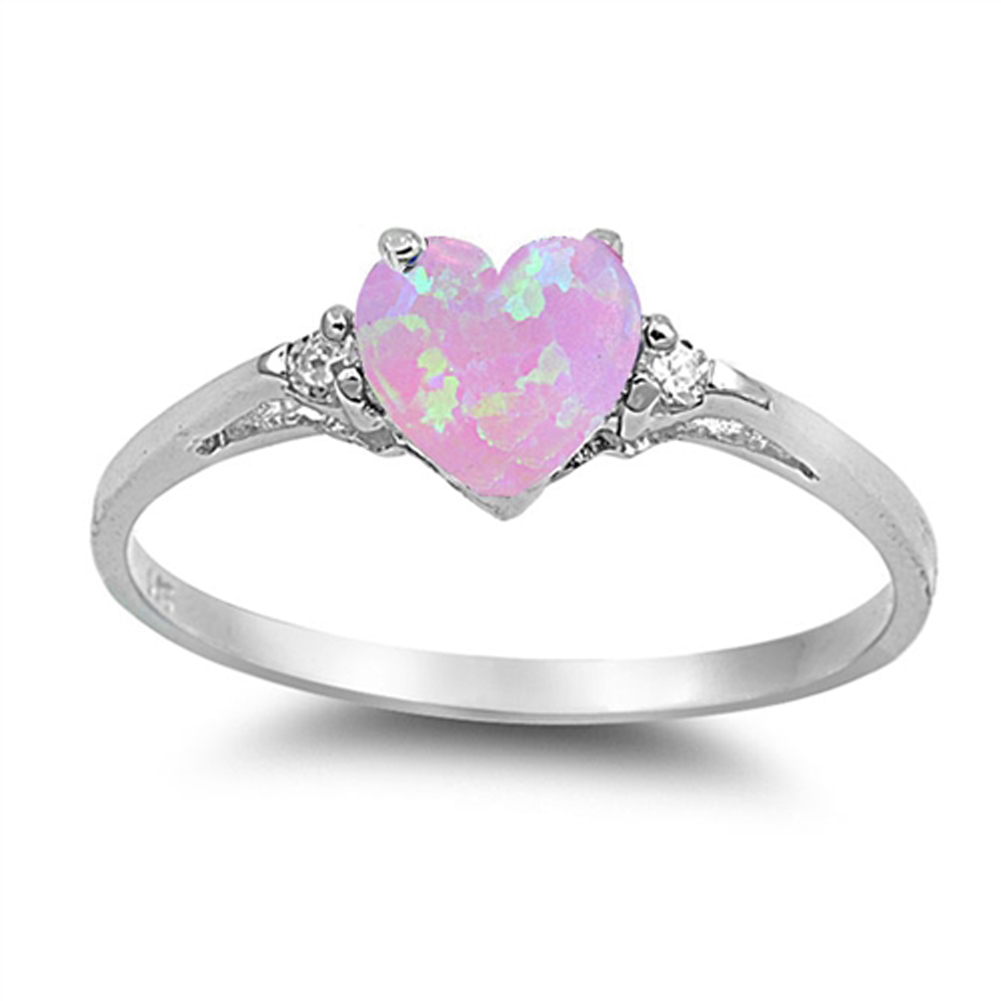 pink simulated opal promise ring sizes 4 5 6 7 8 9