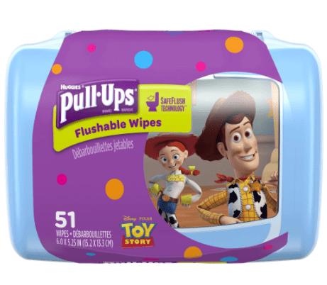 Huggies Pull-Ups Big Kid Flushable Wipes (51 count)