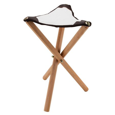European Folding Artist Wooden Stool Perfect for Plein Air Painting and Travel, This classically designed folding stool stands 21