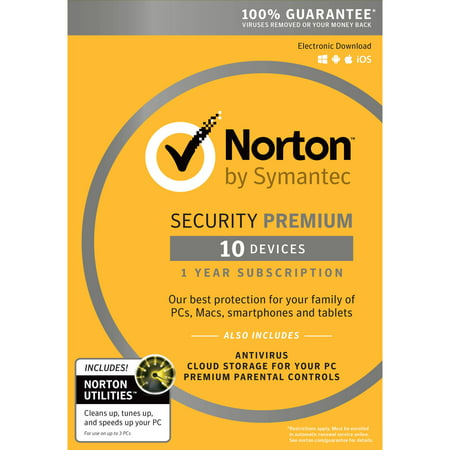 Norton Security Premium  1 User  10 Devices Plus Norton Utilities