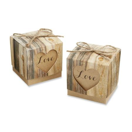 Rustic Favor Boxes (