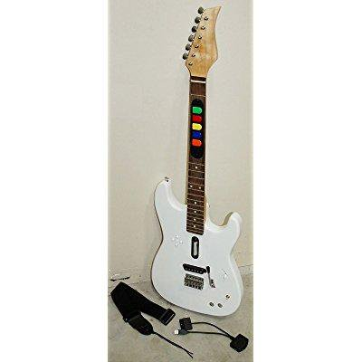 PS3/PS2 Guitar Hero Video Game Full Size Wireless WHITE