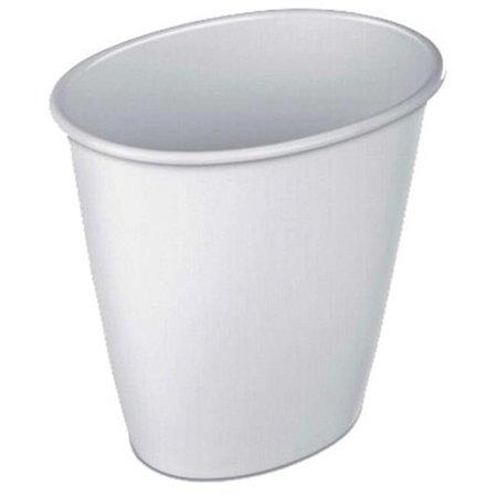 Seed  10.25 in. 1.5 gal Oval Vanity Waste Basket, White - Pack of 12