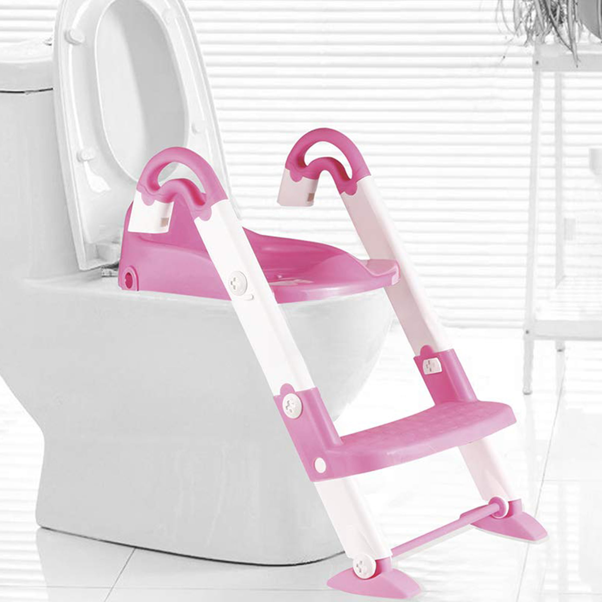 Click here to buy KARMAS PRODUCT 3 in 1 Kids Seat Toilet Trainer,Stepstool Potty Training Seat with Sturdy Non-Slip Ladder... by KARMAS PRODUCT.