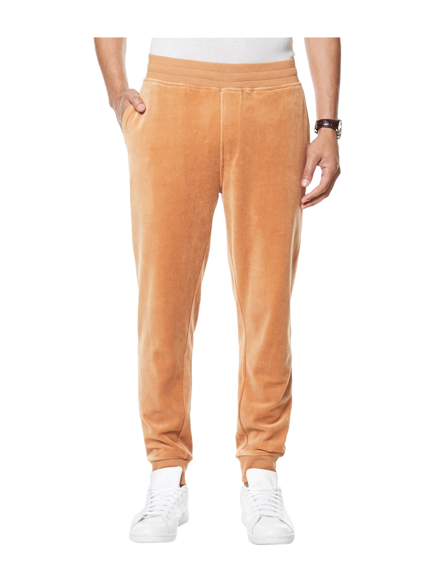 Sean John Mens Velour Travel Casual Jogger Pants