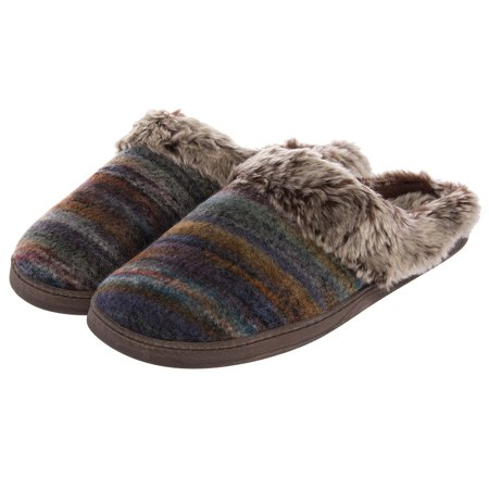 (Aerosoles Women's Cushioned House Slippers Wool Mule Clogs Indoor Outdoor Shoes)