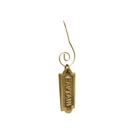 Solid Brass Captain's Sign Christmas Ornament 4