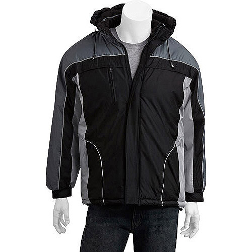 Climate Concepts Men's Fleece Lined Jacket with Removable Hood