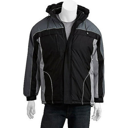 Climate Concepts Mens Fleece Lined Jacket With Removable Hood
