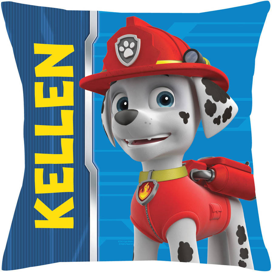 Personalized Paw Patrol Marshall Throw Pillow