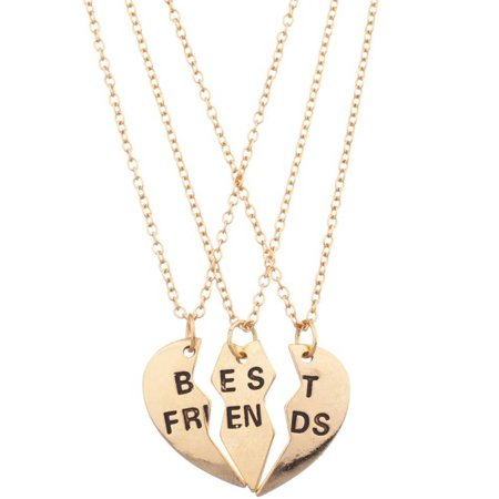 c0ea826be0 ONLINE - Best Friends Necklace Set, 3-Piece - Walmart.com