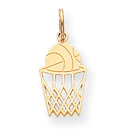 Male Basketball Player Charm (10k Yellow Gold BASKETBALL CHARM LAL72126 )