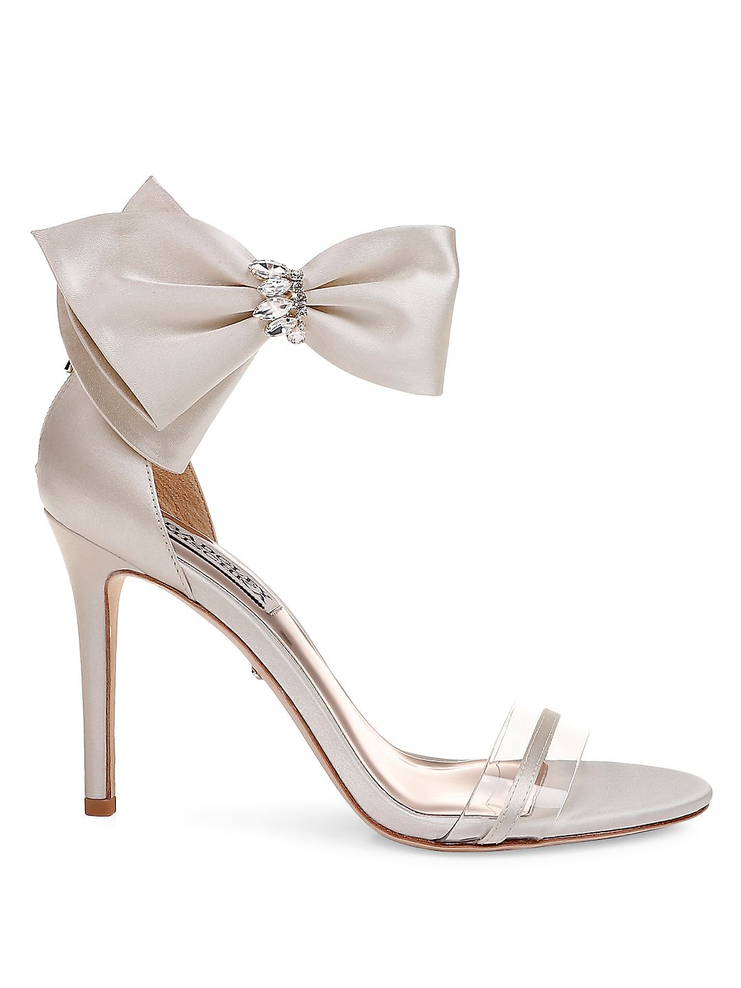 Fran Ankle-Strap Satin Sandals