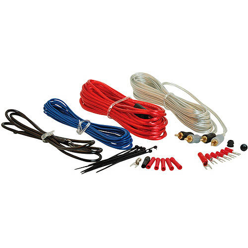 Scosche 270W 12-Gauge Wiring Kit for Single Amps