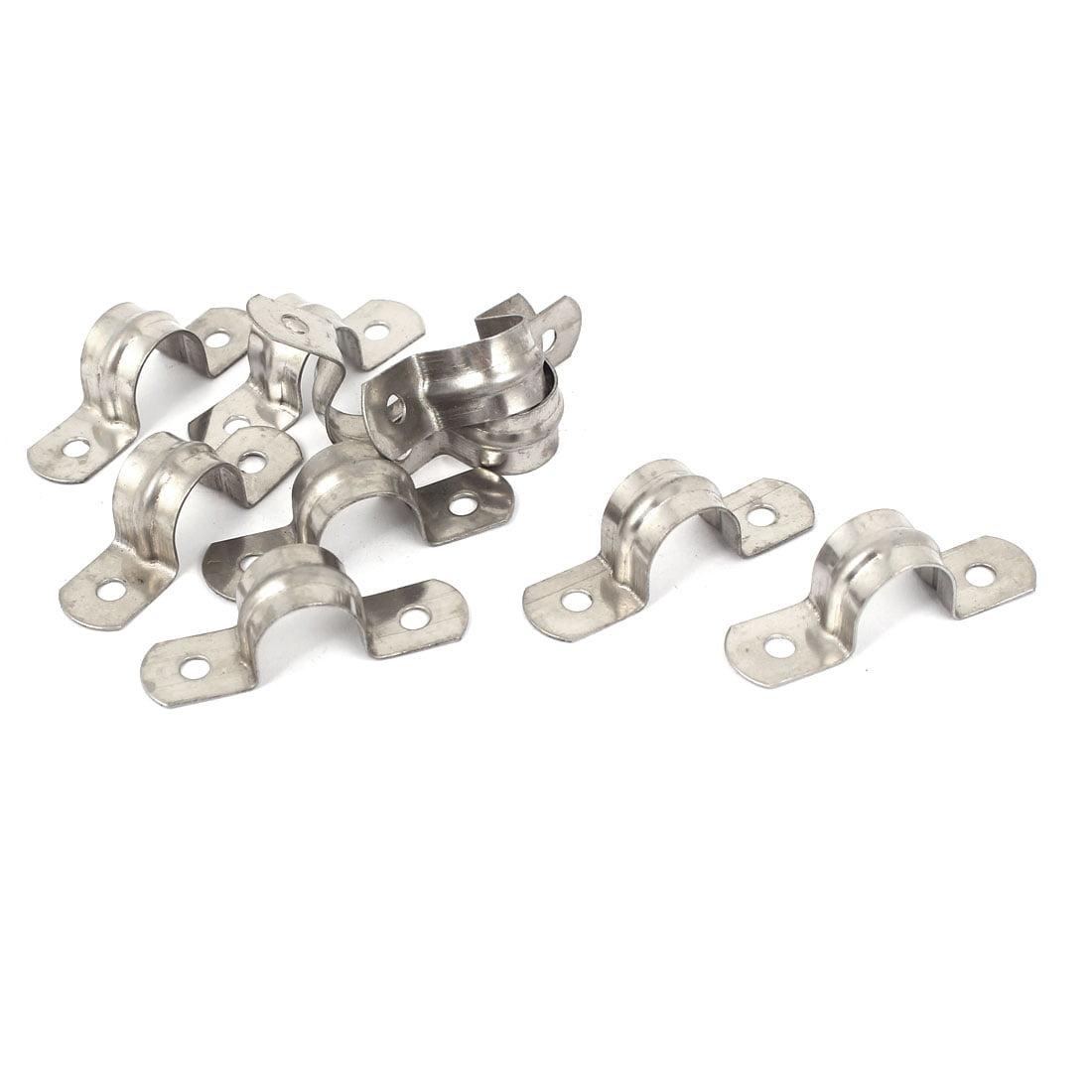 14mm diamètre en acier inoxydable 304 collier en U Tube selle Collier tuyau antistatique 10pcs - image 2 de 2