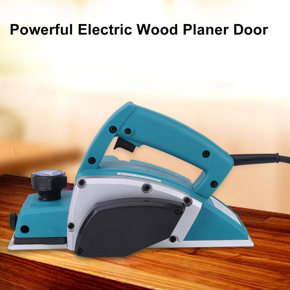 Electric Planer,Ymiko 110V Portable Electric Wood Planer Hand Held Woodworking Power Tool for Home Furniture , Woodworking Tool