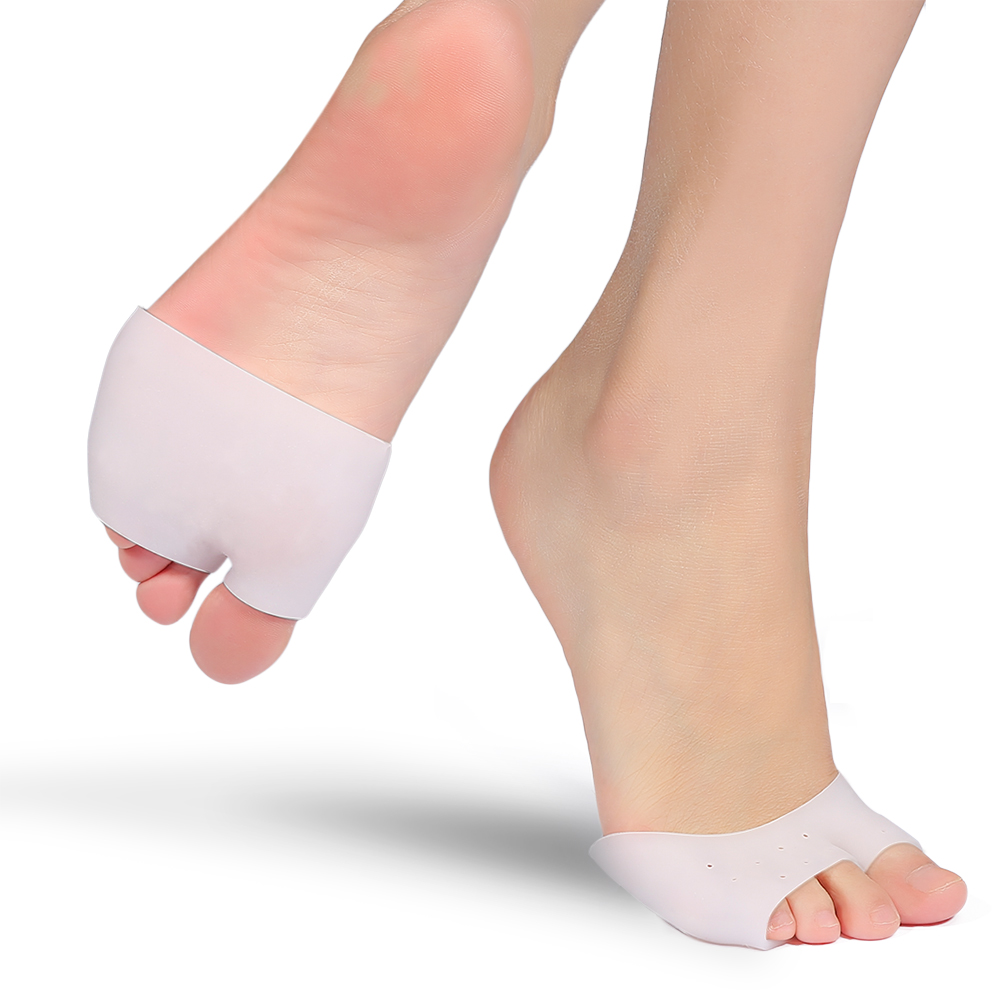 Foot Gel Half Toe Sleeves Bunion Cushion Forefoot Pads for Metatarsal Support Neuroma Pain Relief