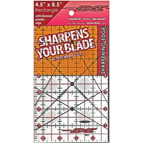 """The Cutting EDGE Clear Ruler-4-1/2""""X8-1/2"""""""