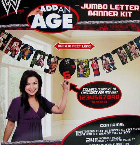 WWE WRESTLING JUMBO LETTER BANNER KIT ~ Birthday Party Supplies Room Decorations