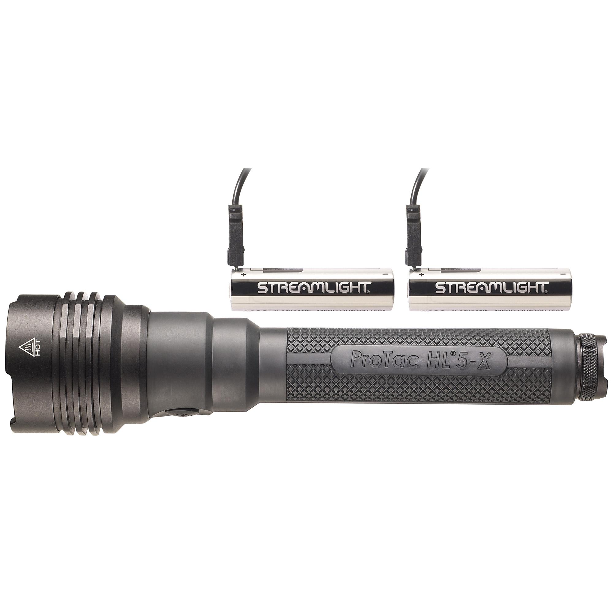 Streamlight ProTac HL 5-X USB Flashlight 3500 Lumens w  USB Battery Black by Streamlight
