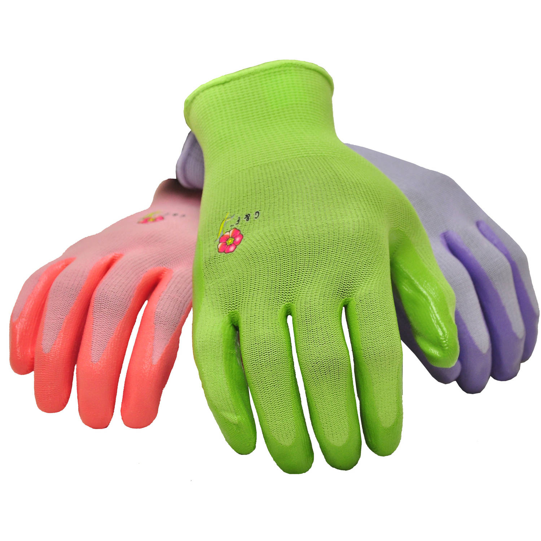 G & F Women's Garden Gloves, Assorted Colors, Women's Medium, 6 Pairs