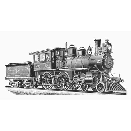 Ohio Locomotive 1893 Ncincinnati Hamilton And Dayton RailroadS 210 Notable For Its Electric Headlight Line Engraving 1893 Poster Print by Granger Collection