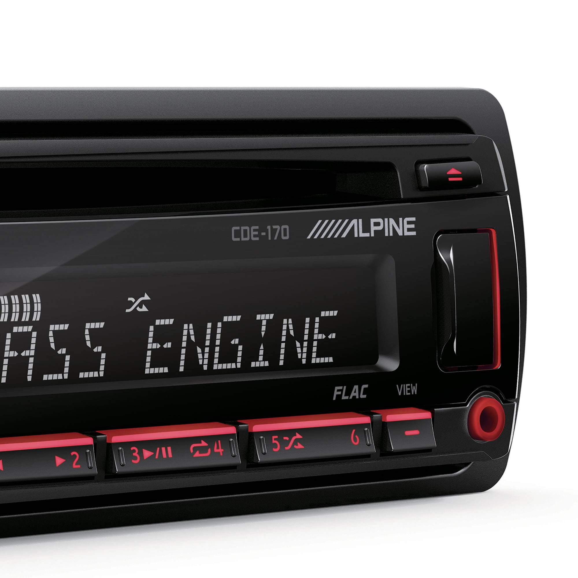 ALPINE CDE-170 Single-Din In-Dash Car CD Receiver Stereo Android//MP3//WMA//USB//AUX